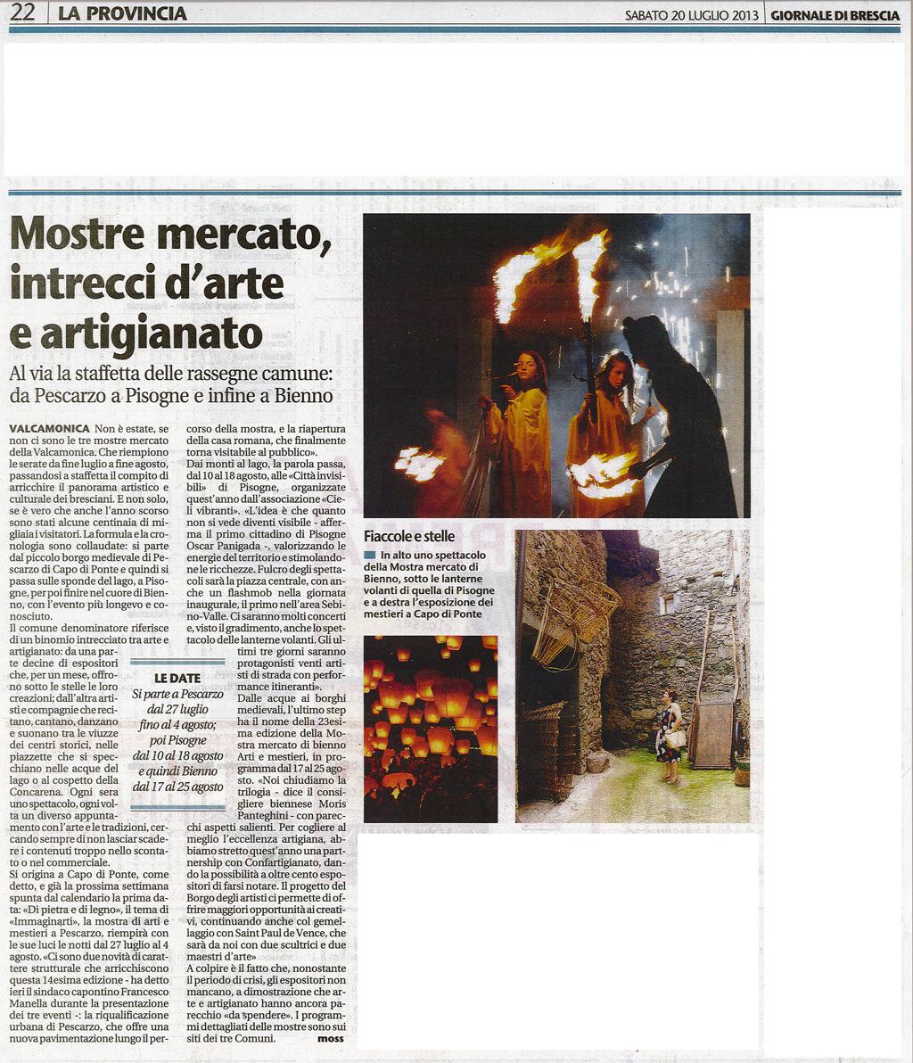 Giornale di Brescia - Sabato 20 luglio 2013