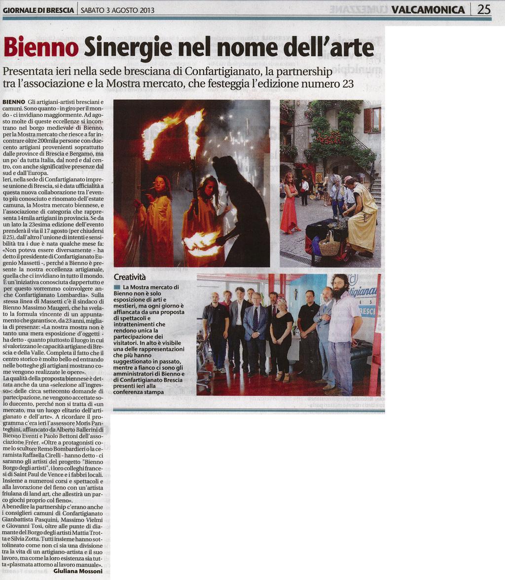 Giornale di Brescia - Sabato 3 agosto 2013