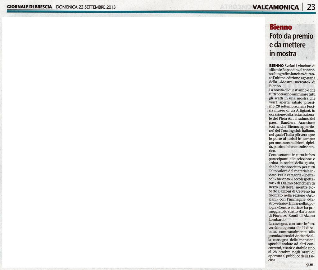 Giornale di Brescia - Domenica 22 settembre 2013