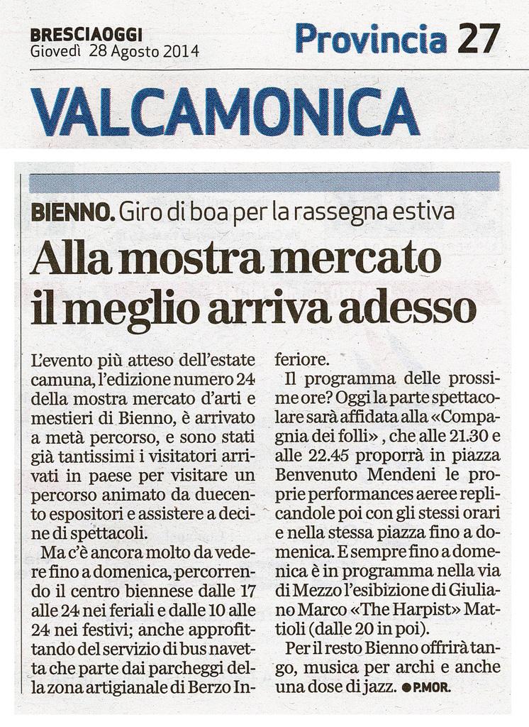 Bresciaoggi - Giovedì 28 agosto 2014