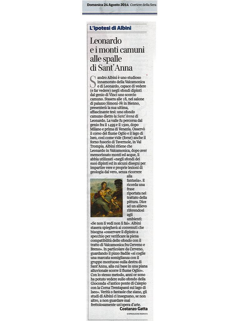 Corriere della sera - Domenica 24 agosto 2014
