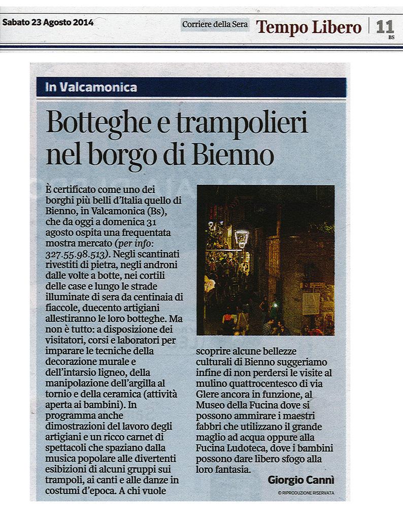 Corriere della sera - Sabato 23 agosto 2014
