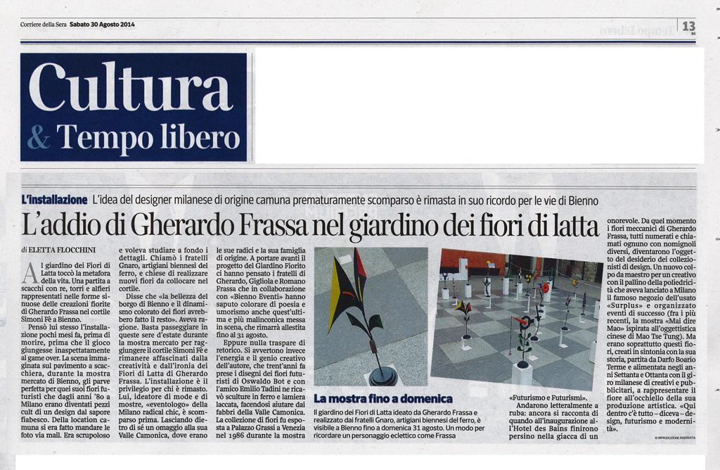 Corriere della sera - Sabato 30 agosto 2014