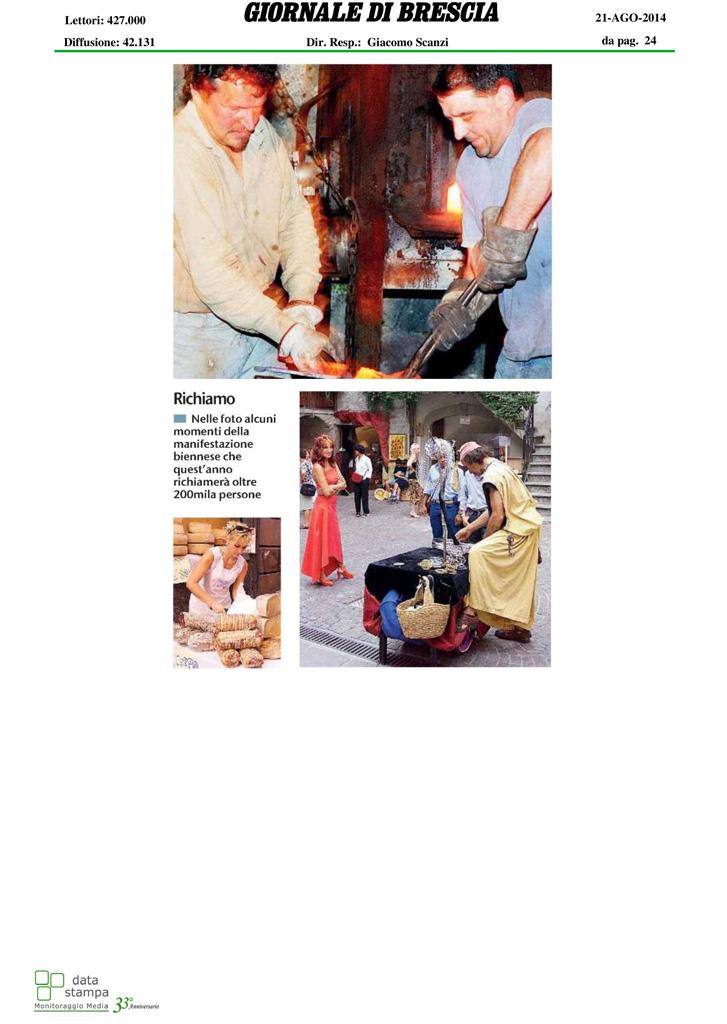 Giornale di Brescia - Giovedì 21 agosto 2014 pag.2