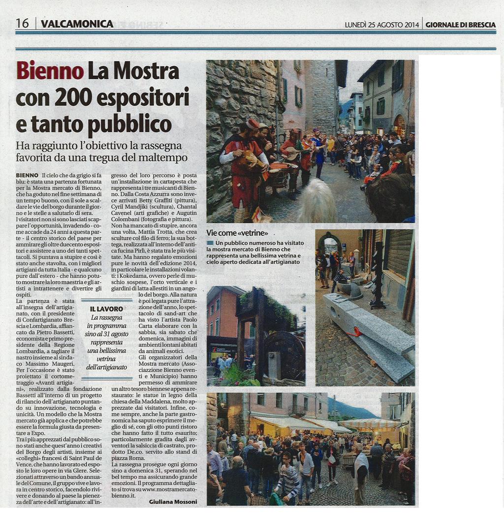 Giornale di Brescia - Lunedì 25 agosto 2014