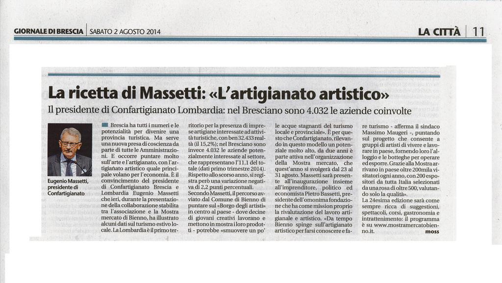 Giornale di Brescia - Sabato 2 agosto 2014
