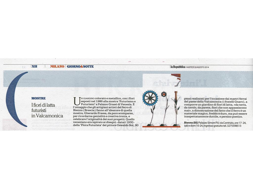 La Repubblica - Martedì 26 agosto 2014