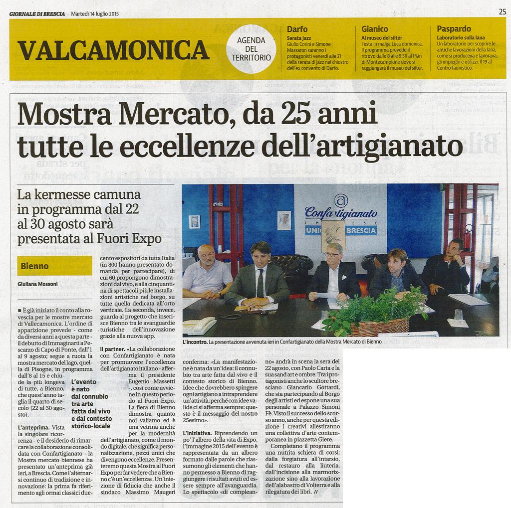 Giornale di Brescia - martedi 14 luglio 2015