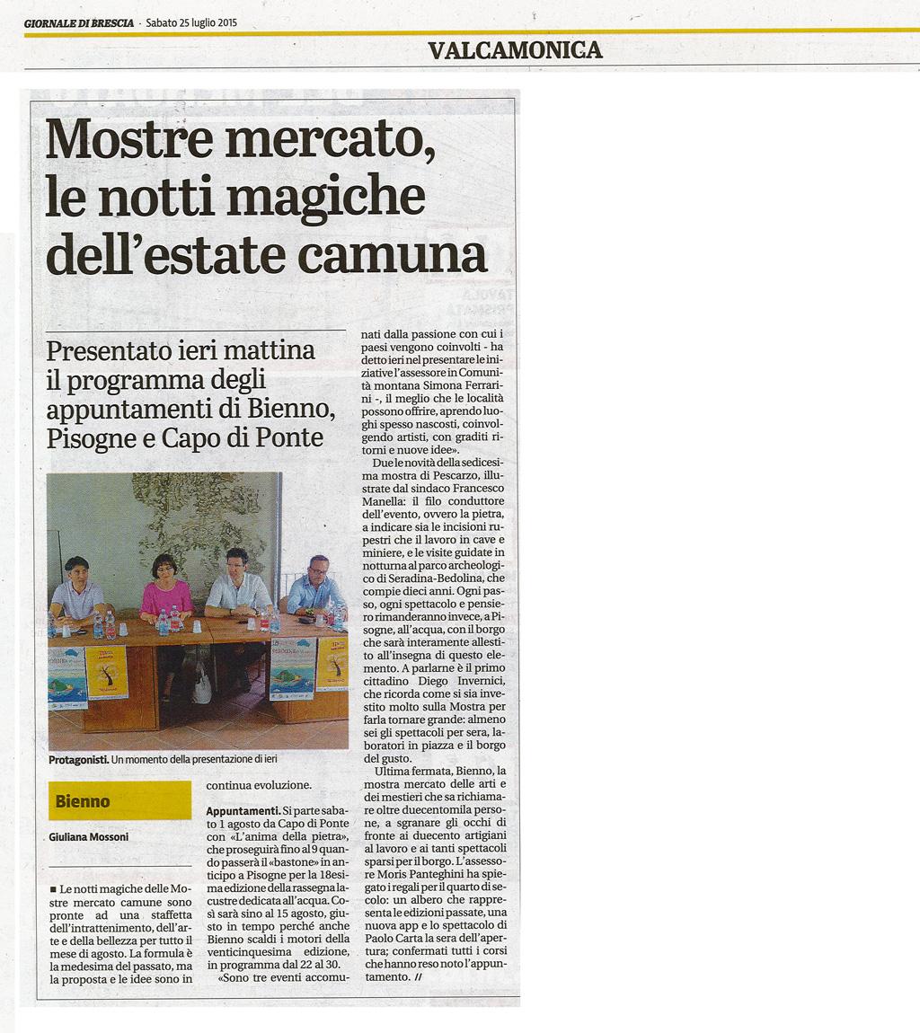 Giornale di Brescia - sabato 25 luglio 2015