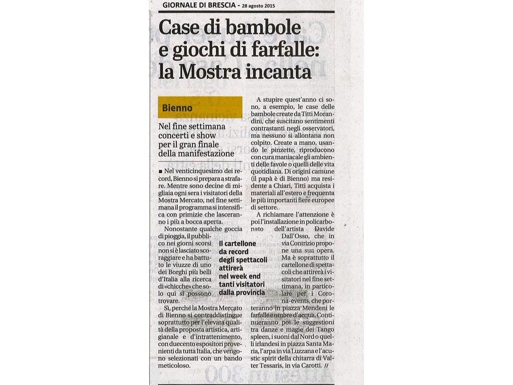 Giornale di Brescia - venerdi 28 agosto 2015