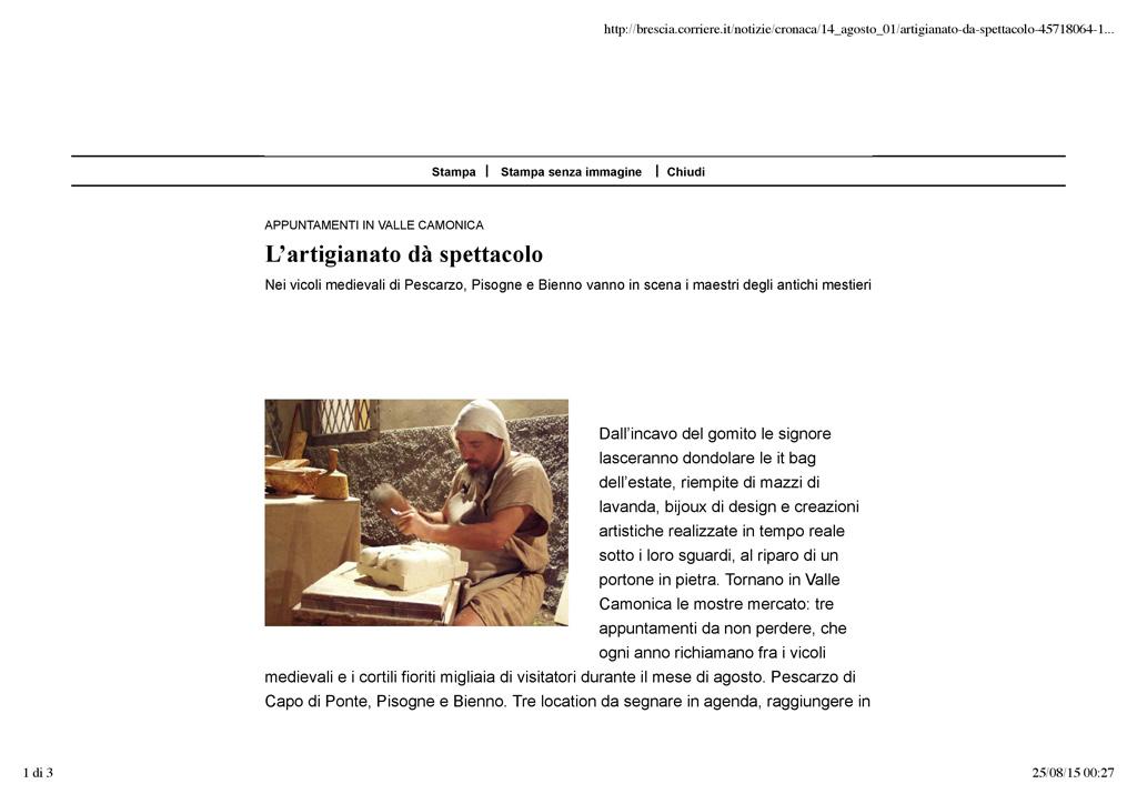 Brescia.corriere.it - sabato 1 agosto 2015 pag.1/3