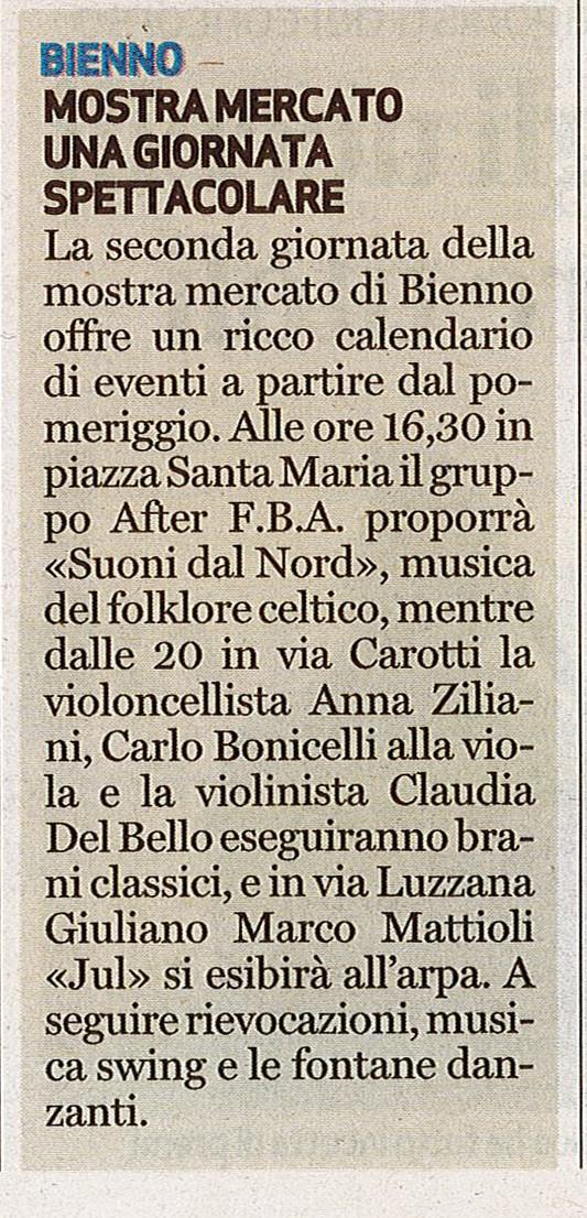 Bresciaoggi - domenica 21 agosto 2016