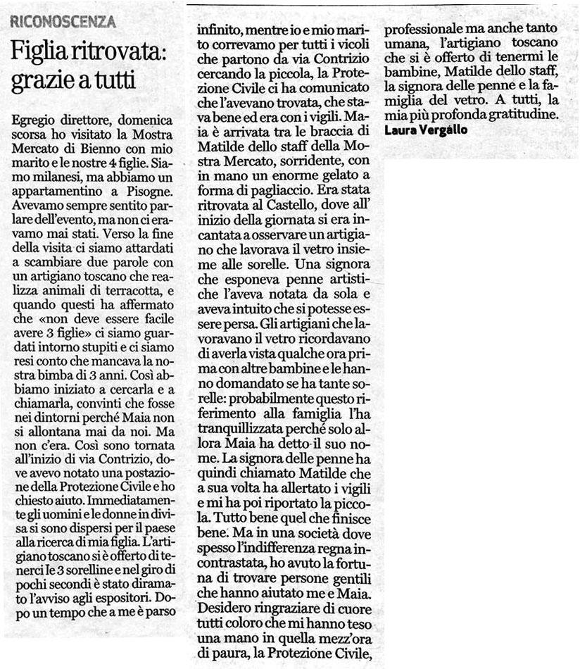 Bresciaoggi - giovedi 01 settembre 2016