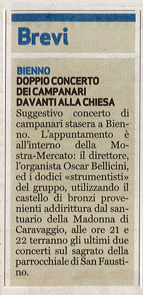 Bresciaoggi - sabato 27 agosto 2016