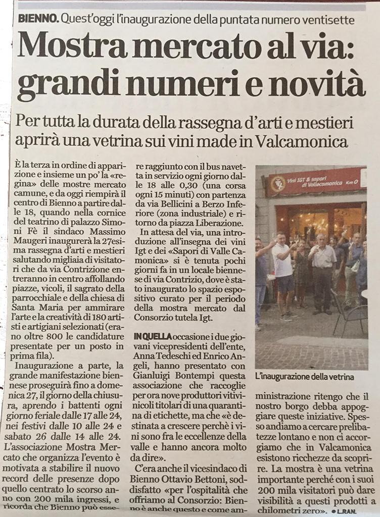 Bresciaoggi - sabato 19 agosto 2017