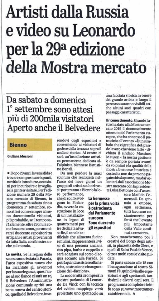 Giornale di Brescia - mercoledì 21 agosto 2019
