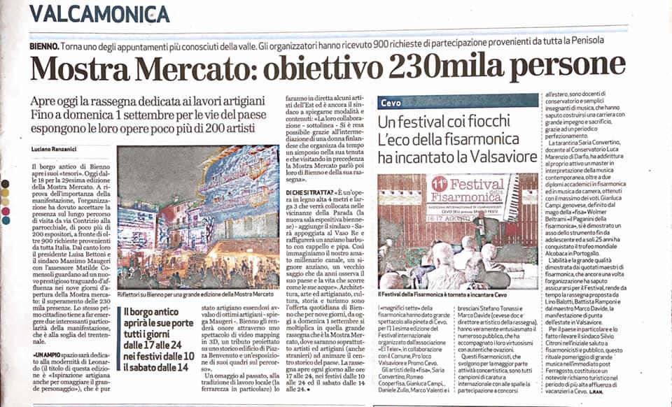 Giornale di Brescia - lunedì 24 giugno 2019
