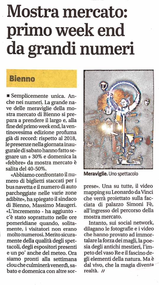 Giornale di Brescia - 27 agosto 2019