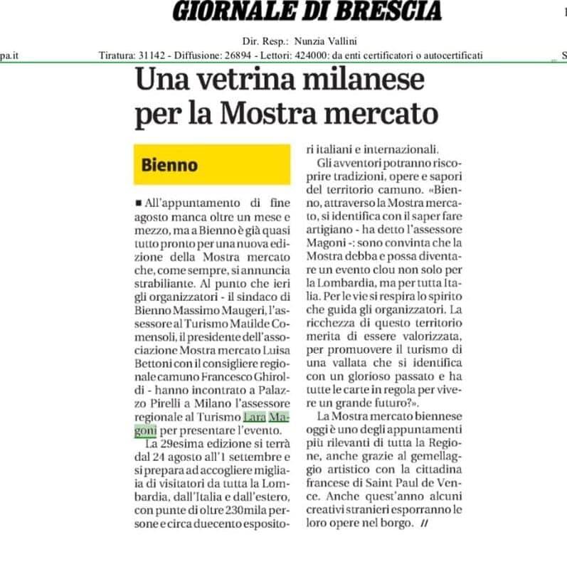 Giornale di Brescia - giovedì 11 luglio 2019